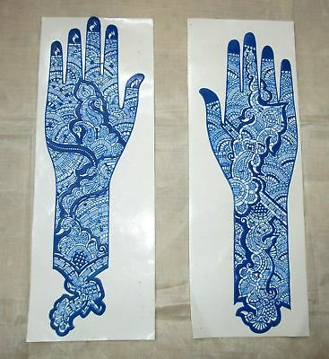 Henna Reusable Rubber Stencils Henna Temporary Tattoo Body Art Full