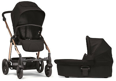 Mamas & Papas Sola 2 Reversible Seat Baby Stroller with Carrycot Black/Rose Gold
