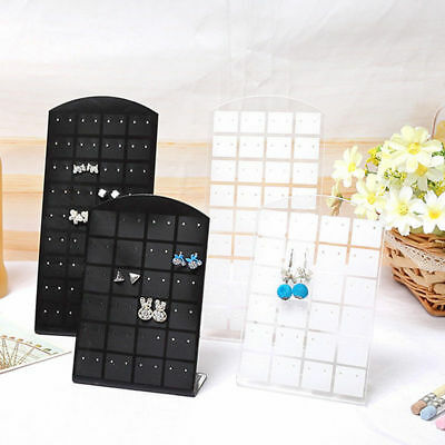 Pop 72 Holes Plastic Earrings Display Stand Jewelry Holder Show Case Tool Rack