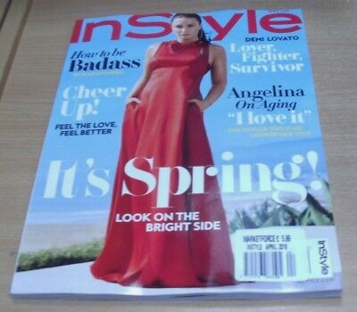 InStyle USA magazine APR 2018 Demi Lovato, Cheer Up, How to be a Badass & more
