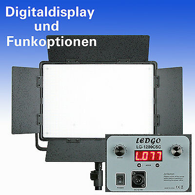 BI-COLOR LED Flächenleuchte LEDGO LG-1200CSC DIGITAL m. LCD-Display + Funkoption