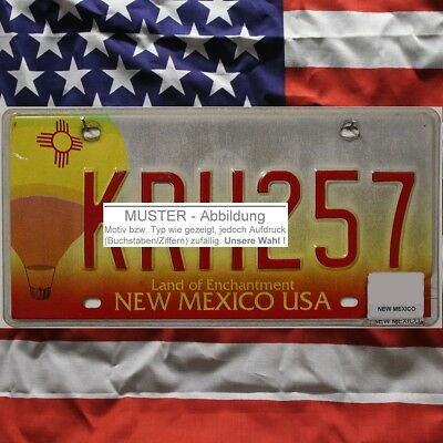 -1- NEW MEXICO Nummernschild Kennzeichen Motiv Ballon ~ (Optional USA Deko Tuch)