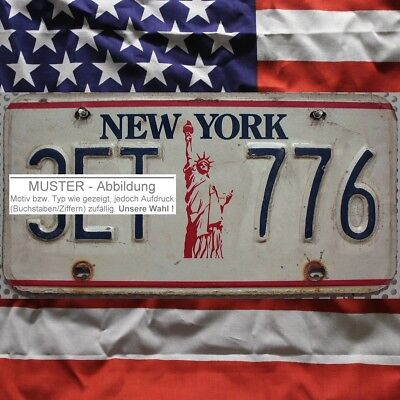-1- NEW YORK Nummernschild Freiheitsstatue Autoschild ^ (Optional USA Deko Tuch)