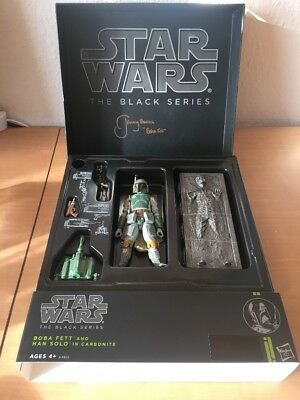 2013 SDCC Star Wars The Black Series Boba Fett & Han Solo SIGNED JEREMY BULLOCH
