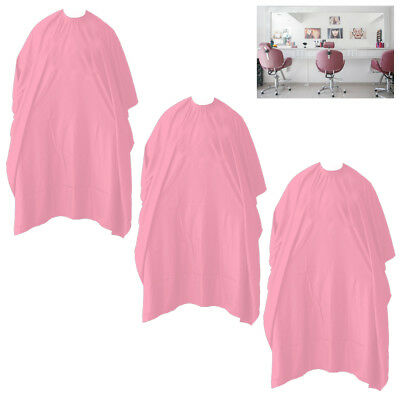 3 Hair Cutting Cape Salon Hairdressing Apron Barber Pink Gown Shampoo Disposable