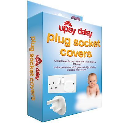 12 x Electrical UK 3 Pin Plug Protector Covers Socket Safety Child Baby Mains