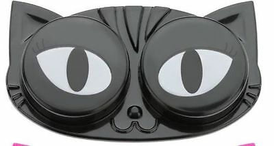 Cat Eyes Contact Lens Case *NEW* Black Cat Contacts Case ~ Travel ~ Cat Lover ~