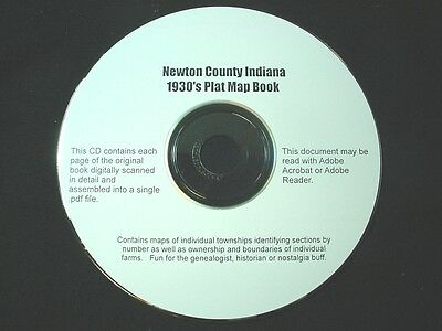 "CD ~ 1930""s Newton County Indiana Plat Map Atlas"