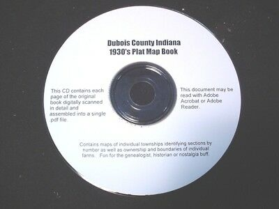 CD ~ 1930's Dubois County Indiana Plat Map Atlas
