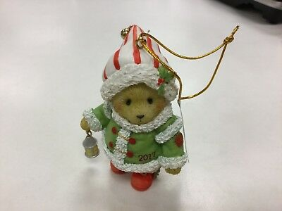CHERISHED TEDDIES Ornament Dated 2017-NEW WITH BOX!