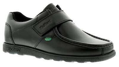 New Mens/Gents Black Kickers Fragma Touch Fastening School Shoes. UK Size