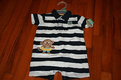 Carters Child Of Mine Boys 6/9 Month Nwt  Monkey