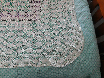Retro Lace Bedspread/ Tablecloth 240cms x 360 cms  Cream Never Used