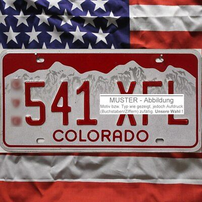 -1- COLORADO Nummernschild US Kennzeichen Rote Nummer ^ (Optional USA Deko Tuch)
