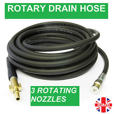 30m DRAIN CLEANING HOSE with ROTARY NOZZLE for MAKITA Pressure Washer