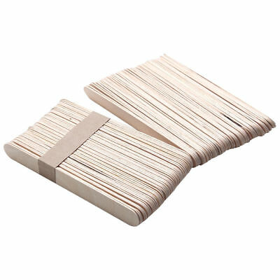 50X Jetable Cire Cirage Corps en Bois Cheveux Retrait Bâton Application Spatule