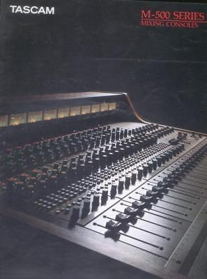 TASCAM M-500 Mixer Series und MultiTrack Recording 1986