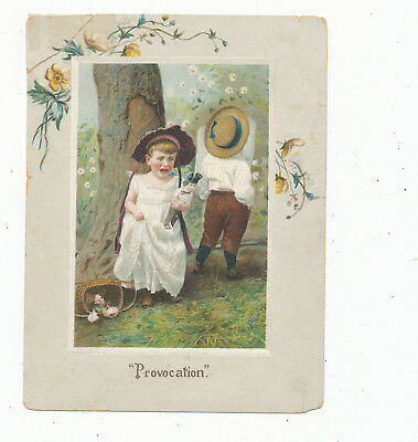 C8185  Victorian Trade Card Knoxville Tenn Pickaninny Friction Polish  Shoes