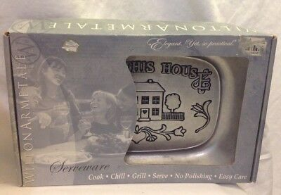 Wilton Armetale Bless This House Serving Tray Cook Chill Grill Serve Easy Care