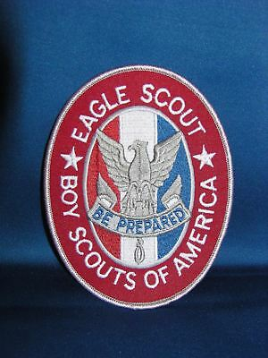 "Boy Scouts Of America Jumbo Size Jacket Emblem Patch Eagle Scout Rank 6X4.5"" New"