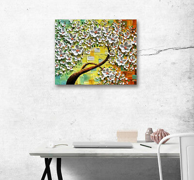 Spring Flower Tree Poster Modern Art Canvas Oil Painting Print Wall Home Decor
