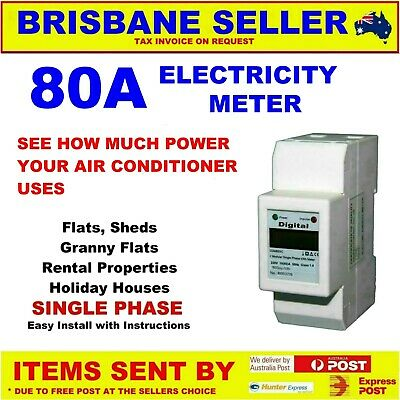 Electricity Meter 240V 3 Phase 415V 50A 80A 100A Not Re-Settable  With Serial #