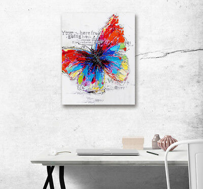 Abstract Painted Butterfly Wall Art Painting Picture Canvas Poster Home Decor