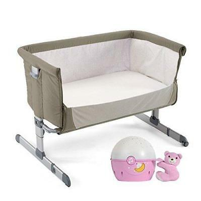 Chicco Next2Me LATERAL Sleeping Cuna Set (Paloma Gris) INCLUYE next2stars (Rosa)