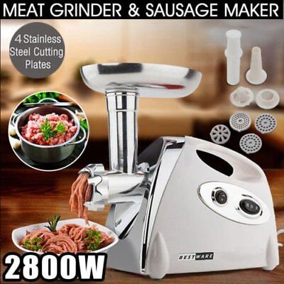 NEW  Electric Meat Grinder Sausage Maker Filler Mincer Stuffer Kibbe