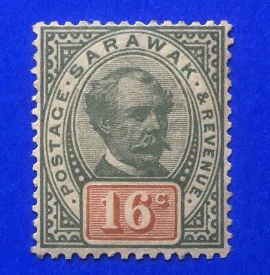 Sarawak 1897 (Sir C Brooke) 16c Green & Orange M/M SG 17. (cat £70)