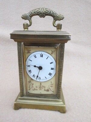 Small Antique Brass Carriage Clock For Tlc