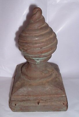 LARGE primitive Antique Hard Wood Post Porch Finial Ornate Architecture Salvage