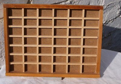 Vintage Wooden Printers Tray Type Case For Letterpress Or Display As Shelving