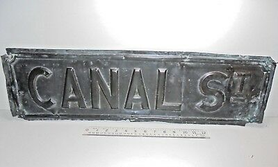 ANTIQUE VICTORIAN COPPER Manchester City Gay Village CANAL STREET OLD ROAD SIGN