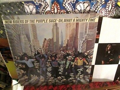 New Riders Of The Purple Sage Lp Oh What A Mighty Time Nr Mint Disc JERRY GARCIA