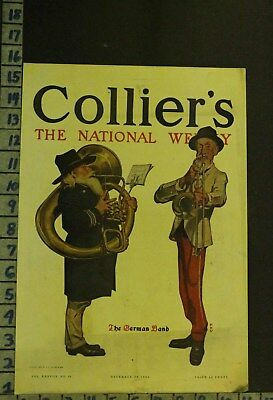 1906 Music German Band Instrument Tuba Trombone Illus Leyendecker Cover Rg60