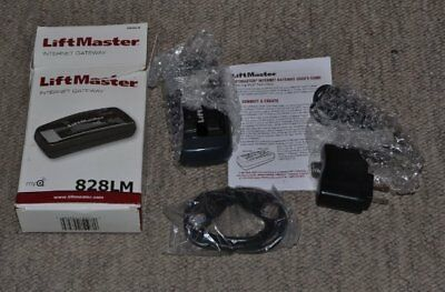New Liftmaster garage door opener Internet Gateway 828LM