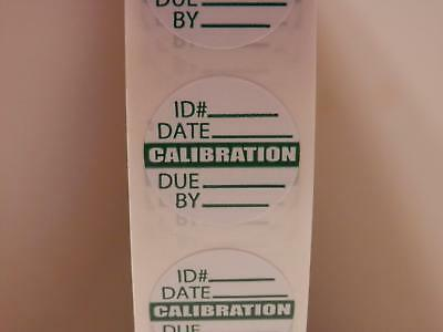 "CALIBRATION  small 3/4"" circle Sticker Label  250/rl"