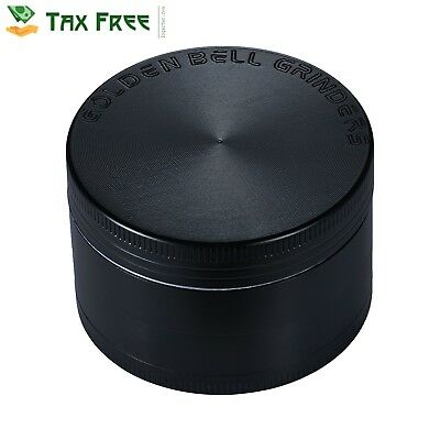 Herb Grinder 4 Piece Metal Spice Tobacco Large Hand Crusher GIFT