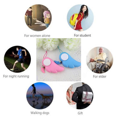 New Personal Alarm Emergency Safety Wing Shape Self Defense Anti-Attack Keychain