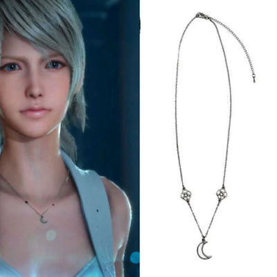 Anime Final Fantasy XV FF15 Lunafreya Nox Fleuret Princess Moon Necklace Cosplay