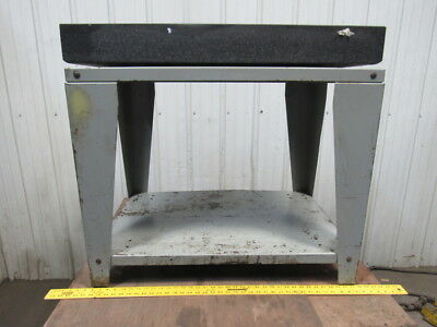 "Starrett Grade A 36"" x 24"" x 4"" Black Granite Surface Inspection Plate W/Stand"
