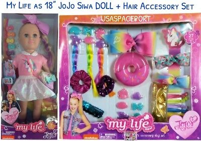 "27-pcs My Life as JOJO Siwa 18"" Doll HAIR ACCESSORY SET Bows Clips Headband LOT"