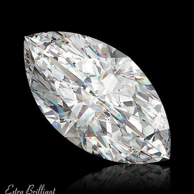 1.01ct H/VS1/Good-Pol Marquise Shape GIA Certified Diamond 8.99x5.27x3.53mm