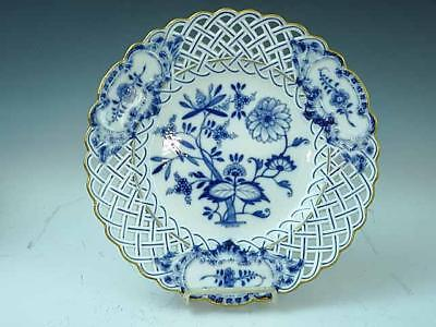 "Meissen Reticulated Blue Onion 11"" Charger / Serving Dish 1st Quality"