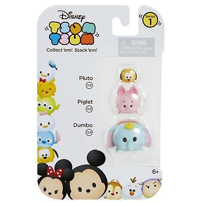 DISNEY 3pc Set TSUM TSUM Collectible Figure PLUTO 110+PIGLET 153+DUMBO 124 New!