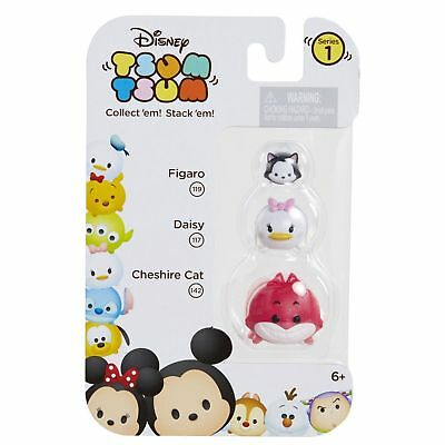 DISNEY 3p Set TSUM TSUM Collectible Figure FIGARO 119+DAISY 117+CHESHIRE CAT 142