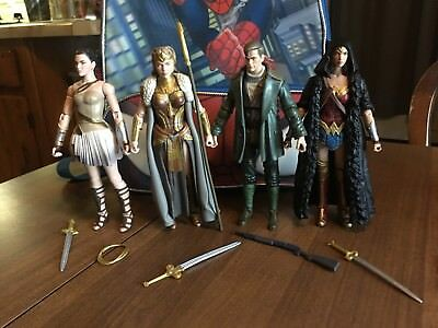 DC Comics Multiverse Wonder Woman Complete Set Of 4 Figures Mint