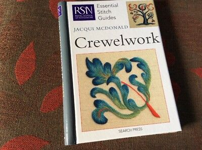 Crewelwork Jacqui Mcdonald Search Press Royal School Of Neeedlework  Excellent