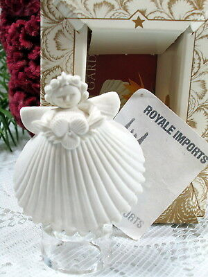 Margaret Furlong Viola Seashell Angel White Ornament 2 Inch New Box And Stand